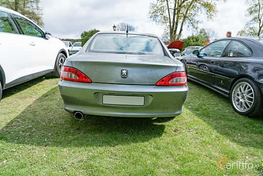 Back of Peugeot 406 Coupé 3.0 V6 Manual, 207ps, 2001 at Fest För Franska Fordon  på Taxinge slott 2019