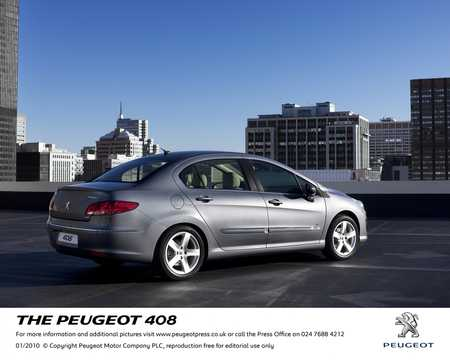 Back/Side of Peugeot 408 2010