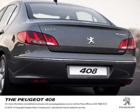 Close-up of Peugeot 408 2010