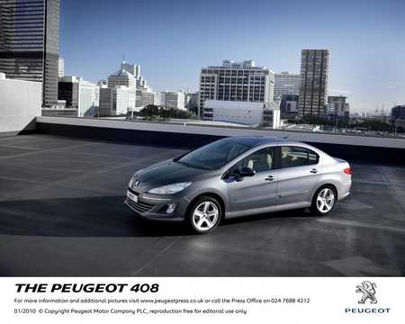Front/Side  of Peugeot 408 2010