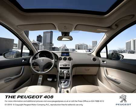 Interior of Peugeot 408 2010