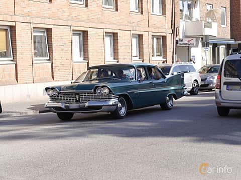 Front/Side  of Plymouth Belvedere 4-door Sedan 5.2 V8 TorqueFlite, 233ps, 1959 at Wheels & Wings 2014