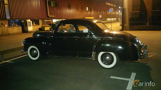 Back/Side of Plymouth Deluxe Coupé 3.6 Manual, 95ps, 1948