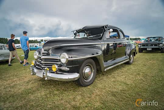 Front/Side  of Plymouth Deluxe Coupé 3.6 Manual, 95ps, 1947 at Power Big Meet 2016