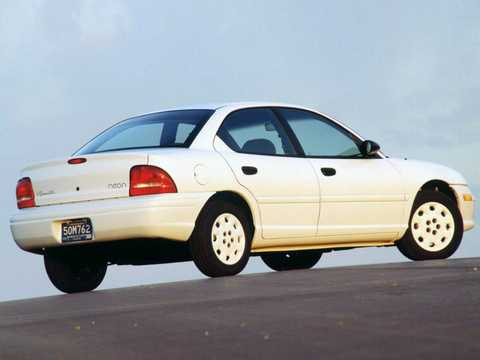 Back/Side of Plymouth Neon Sedan 1996