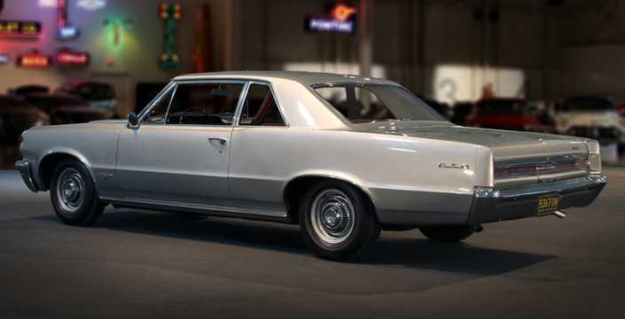 Back/Side of Pontiac LeMans 2-door Hardtop 1965
