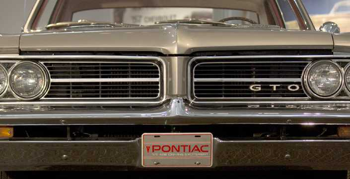 Close-up of Pontiac LeMans 2-door Hardtop 1965