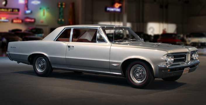 Front/Side  of Pontiac LeMans 2-door Hardtop 1965