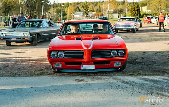 Front  of Pontiac LeMans Sport Coupé 4.1 Hydra-Matic, 178ps, 1969 at Wheelers Cruising, Vetlanda 2019