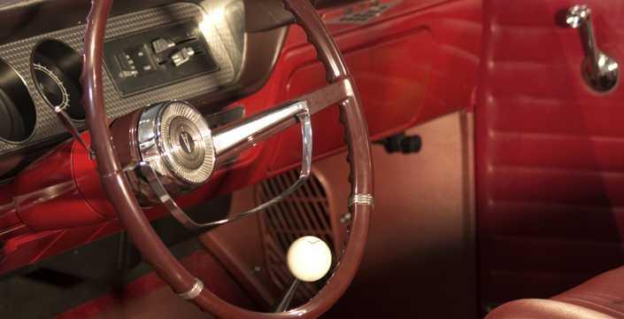 Interior of Pontiac LeMans 2-door Hardtop 1965