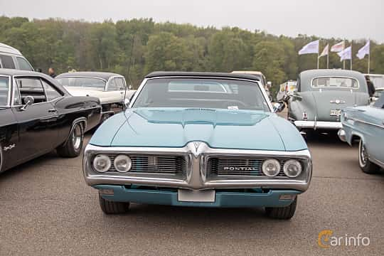 Front  of Pontiac LeMans Convertible 4.1 Hydra-Matic, 178ps, 1968 at Lucys motorfest 2019