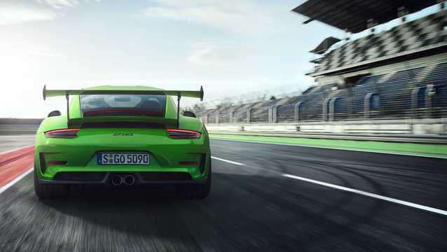 Back of Porsche 911 GT3 RS 4.0 H6 PDK, 520hp, 2018