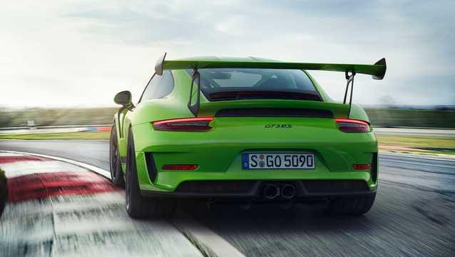 Back/Side of Porsche 911 GT3 RS 4.0 H6 PDK, 520hp, 2018