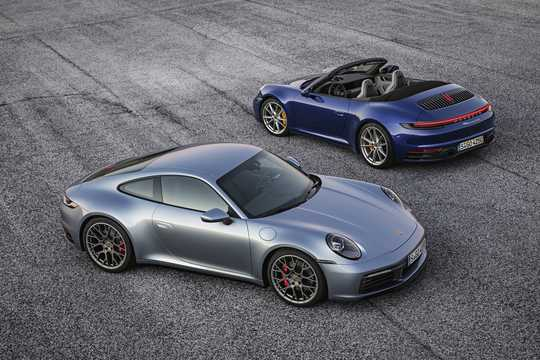 Front/Side  of Porsche 911 Carrera 4S Cabriolet 3.0 H6 4 PDK, 450hp, 2019