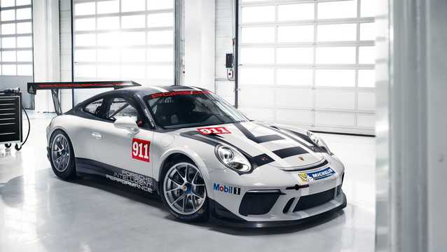 Front/Side  of Porsche 911 GT3 Cup 4.0 H6 Sequential, 485hp, 2017