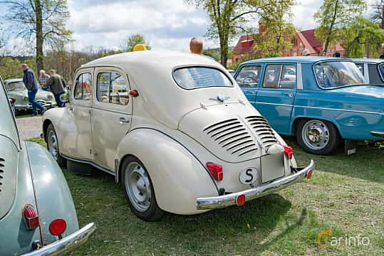 Back/Side of Renault 4CV 0.7 Manual, 18ps, 1960 at Fest För Franska Fordon  på Taxinge slott 2019
