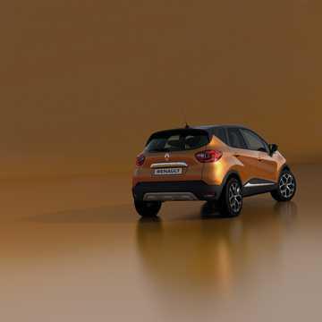 Back/Side of Renault Captur 1st Generation Facelift