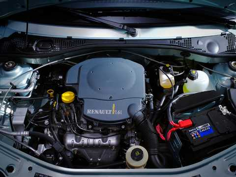 Engine compartment  of Renault Logan 1st Generation