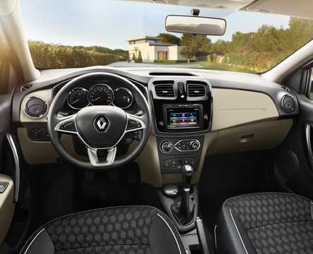 Interior of Renault Logan 2nd Generation Facelift