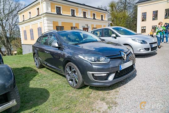 Front/Side  of Renault Mégane GT Grandtour 2.0 dCi Manual, 163ps, 2014 at Fest För Franska Fordon  på Taxinge slott 2019