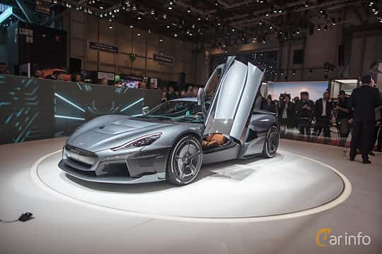 Front/Side  of Rimac C_Two 120 kWh IWD Single Speed, 1914ps, 2018 at Geneva Motor Show 2018