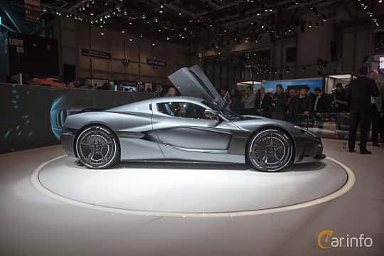 Side  of Rimac C_Two 120 kWh IWD Single Speed, 1914ps, 2018 at Geneva Motor Show 2018