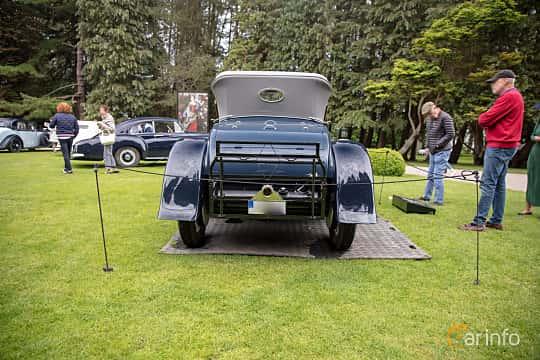 Back of Rolls-Royce Silver Ghost Roadster 7.4 Manual, 76ps, 1922 at Rolls-Royce och Bentley, Norrviken Båstad 2019