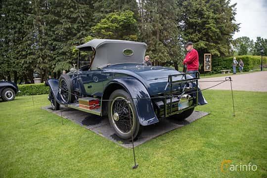 Back/Side of Rolls-Royce Silver Ghost Roadster 7.4 Manual, 76ps, 1922 at Rolls-Royce och Bentley, Norrviken Båstad 2019