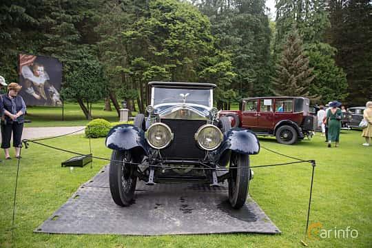 Front  of Rolls-Royce Silver Ghost Roadster 7.4 Manual, 76ps, 1922 at Rolls-Royce och Bentley, Norrviken Båstad 2019