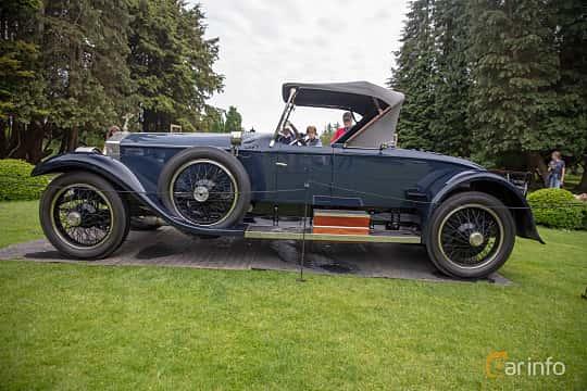 Side  of Rolls-Royce Silver Ghost Roadster 7.4 Manual, 76ps, 1922 at Rolls-Royce och Bentley, Norrviken Båstad 2019