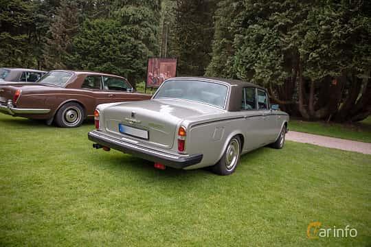 Back/Side of Rolls-Royce Silver Shadow 4-door 6.8 V8 Automatic, 200ps, 1980 at Rolls-Royce och Bentley, Norrviken Båstad 2019