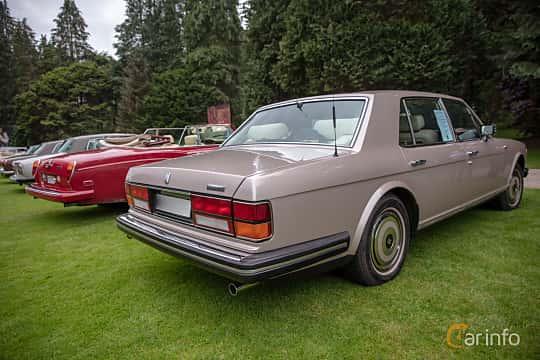 Back/Side of Rolls-Royce Silver Spur 6.75 V8 Automatic, 201ps, 1987 at Rolls-Royce och Bentley, Norrviken Båstad 2019