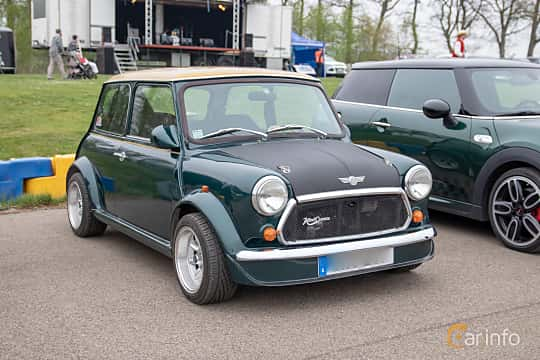 Front/Side  of Rover Mini 1000 1.0 Manual, 41ps, 1989 at Lucys motorfest 2019