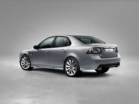 Back/Side of Saab 9-3 Aero Sedan 2.0 Manual, 220hp, 2014