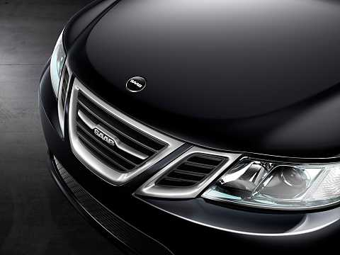 Close-up of Saab 9-3 Aero Sedan 2.0 Manual, 220hp, 2014