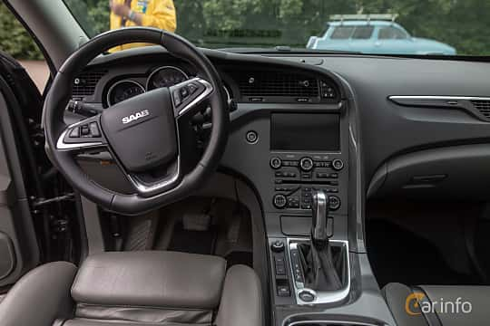 Interior of Saab 9-4X Aero 2.8 T V6 XWD Automatic, 300ps, 2011 at Saxtorp Saabklubbens Skånia marknad 2019