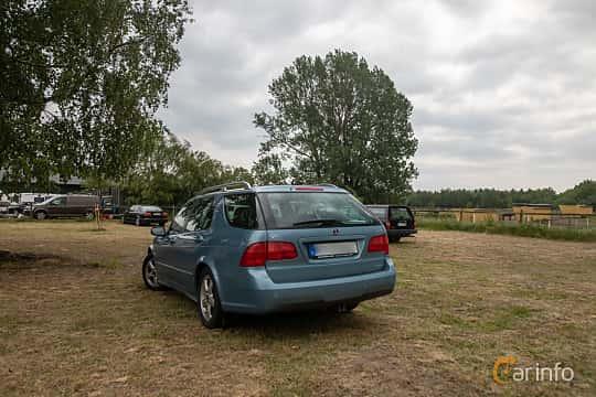 Back/Side of Saab 9-5 SportCombi 2.3 T BioPower Automatic, 210ps, 2007 at Saxtorp Saabklubbens Skånia marknad 2019