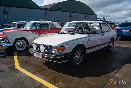 Front/Side  of Saab 90 2.0 Manual, 100ps, 1987 at Fly ´n´ Ride 2018