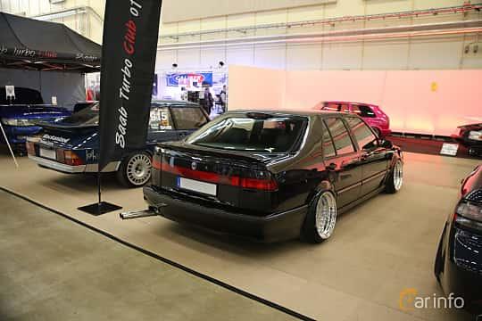 Back/Side of Saab 9000 CS 2.0 Turbo Manual, 185ps, 1996 at Bilsport Performance & Custom Motor Show 2018