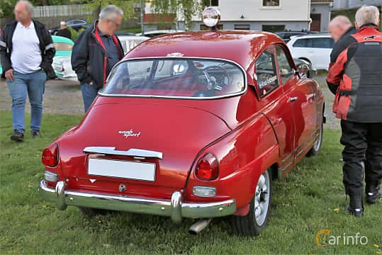 Back/Side of Saab 96 0.8 Manual, 38ps, 1964