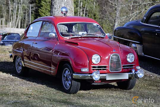 Front/Side  of Saab 96 0.8 Manual, 38ps, 1964