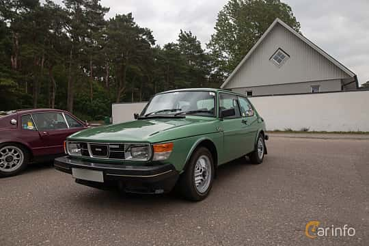 Fram/Sida av Saab 99 2-door Sedan 2.0 Turbo Manual, 145ps, 1980 på Saxtorp Saabklubbens Skånia marknad 2019