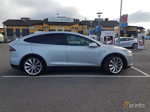 Side of Tesla Model X P90D 90 kWh AWD Single Speed, 511ps, 2016