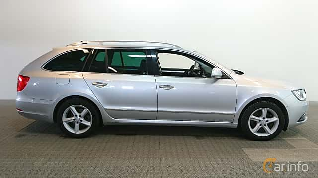 Side  of Skoda Superb Combi 2.0 TDI 4x4 DSG Sequential, 170ps, 2015