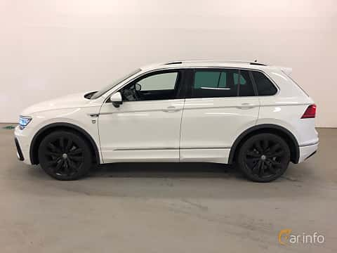 Side  of Volkswagen Tiguan 2.0 TDI SCR BlueMotion 4Motion DSG Sequential, 190ps, 2018