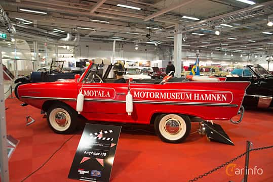 Side  of Amphicar Amphicar 1.1 Manual, 39ps, 1968 at Bilsport Performance & Custom Motor Show 2018