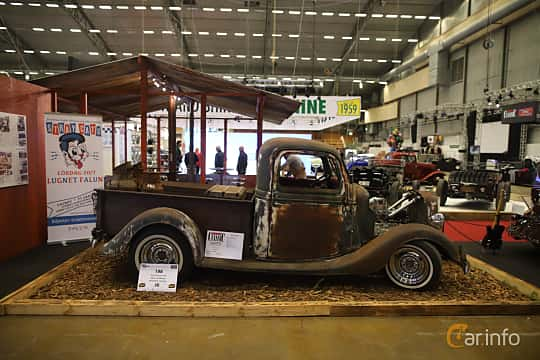 Side  of Ford Model 50 Pickup 3.6 V8 Manual, 86ps, 1935 at Bilsport Performance & Custom Motor Show 2019