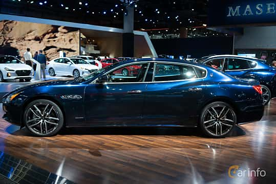 Side  of Maserati Quattroporte S Q4 3.0 V6 Q4 Automatic, 430ps, 2019 at LA Motor Show 2018