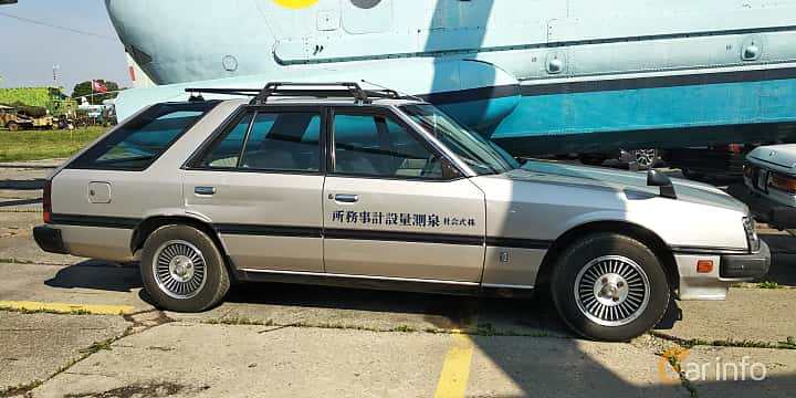 Side  of Nissan Skyline Wagon 1.8 115ps, 1986 at Old Car Land no.1 2019