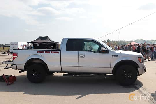 Side  of Ford F-150 SuperCab 5.0 V8 Ti-VCT FFV Automatic, 364ps, 2014 at Proudrs Drag racing Poltava 2019